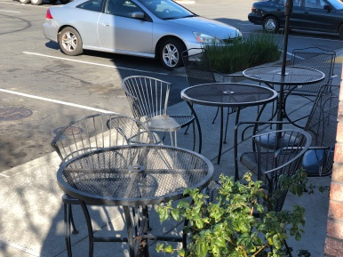 Outdoor Seating at Jimboy's is dog-friendly.