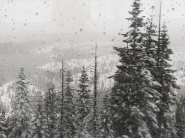 View from the storm on the Amtrak Train.