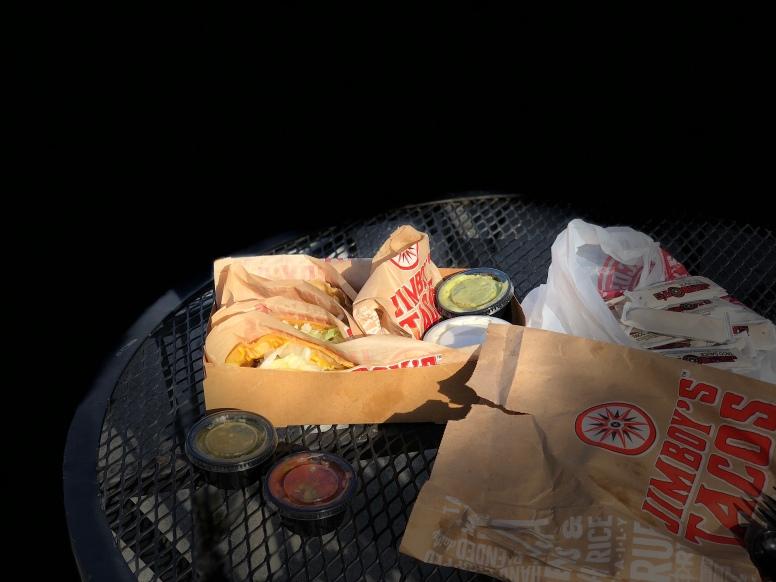 Eating Jimboy's outside is fun!